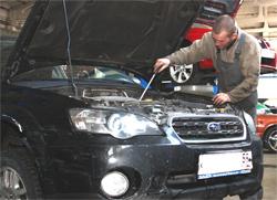 Замена масла на автомобиле Subaru